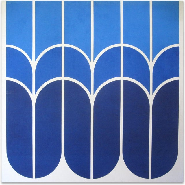 "Vintage 1970s Large-Scale Graphic Art ""Tulip"" - Image 1 of 5"