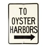 """Image of Vintage """"To Oyster Harbors' Metal Sign For Sale"""