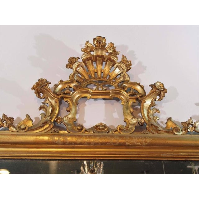 Antique Italian Gilt Wood Mirror - Image 2 of 7