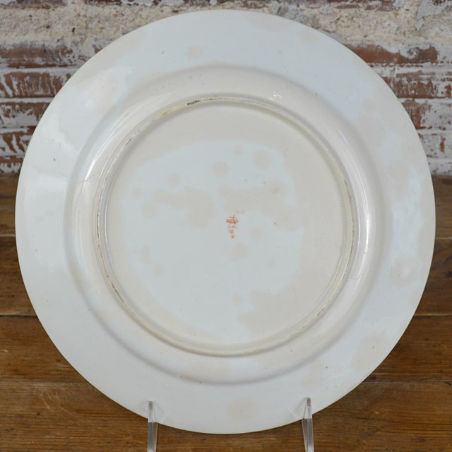 Ceramic Late Georgian Crown Derby Old Japan Porcelain Dinner Plate For Sale - Image 7 of 8