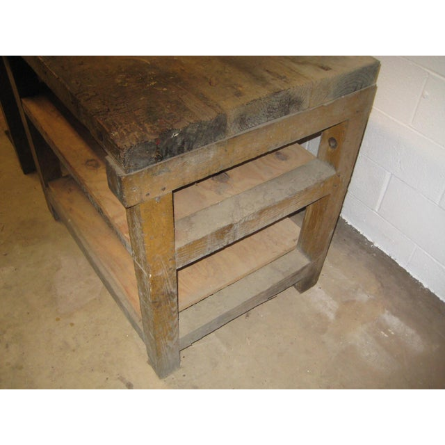 1900s Industrial Railroad Work Bench For Sale - Image 4 of 13