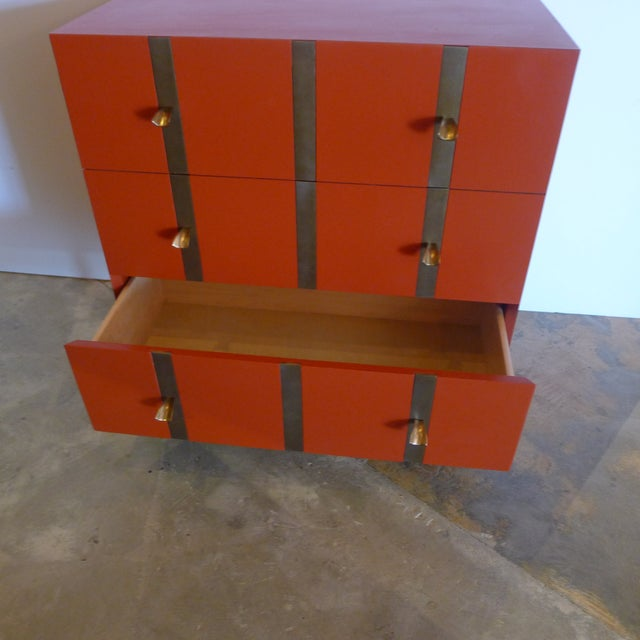 Not Yet Made - Made To Order Paul Marra 3-Drawer Banded Chest For Sale - Image 5 of 7