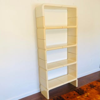 1970s Space Age Modern Umbo White Plastic Bookcase Preview