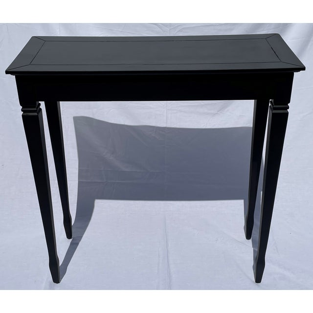 Black Vintage Black and Gold Narrow Side Table For Sale - Image 8 of 12