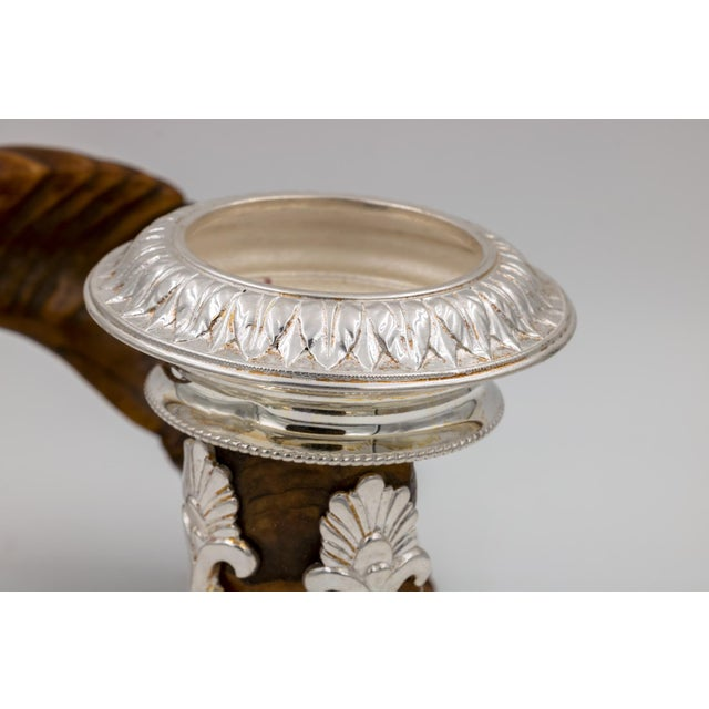 Metal Scottish Rams Horn and Silver Candle Holder, Mid-19th Century For Sale - Image 7 of 9