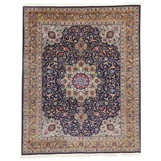 """Vintage Persian Tabriz Rug - 10'X 12'05"""" For Sale"""
