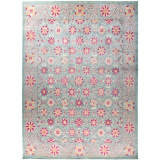 """""""Florence"""", Suzani Hand Knotted Area Rug - 12' 3"""" X 16' 10"""" For Sale"""