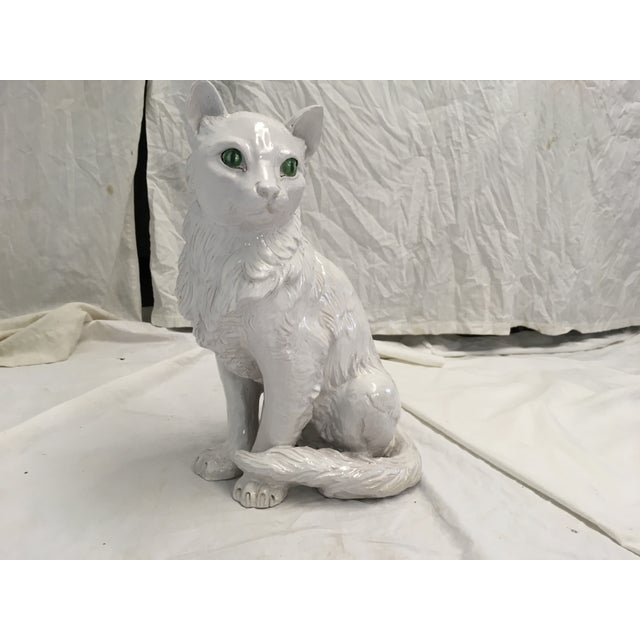 Figurative Italian Terracotta Cat Figure For Sale - Image 3 of 10