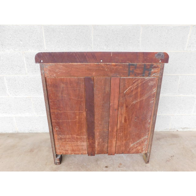 Mahogany Antique Victorian Walnut Cottage Chest For Sale - Image 7 of 13