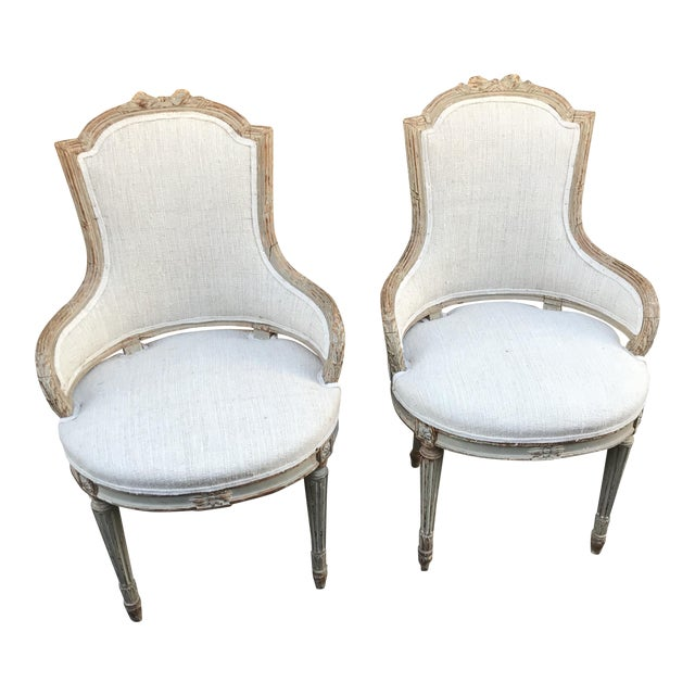 1860 French Petite Fauteuils - a Pair For Sale
