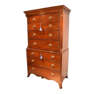 George III Mahogany Chest on Chest For Sale