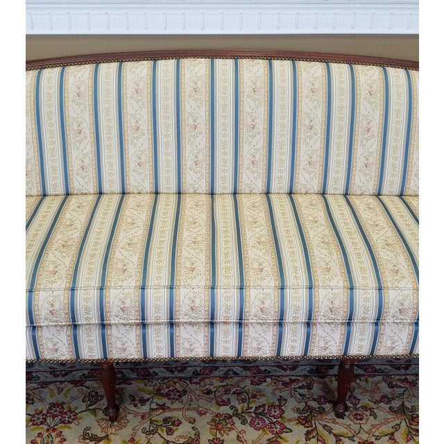Fantastic Hickory Chair Company James River Collection Sheraton Mahogany Sofa For Sale - Image 9 of 10