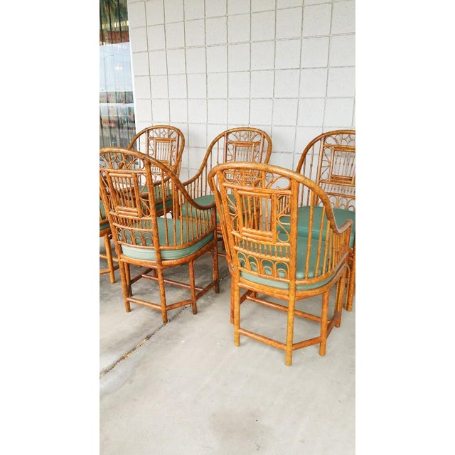 Hollywood Regency Brighton Bamboo Chair- Set of 6 - Image 5 of 9