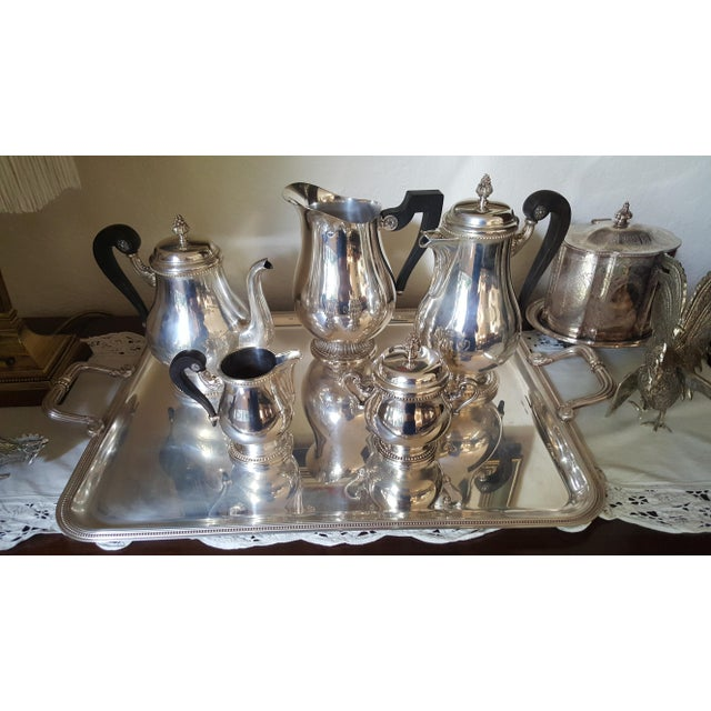 1990s Christofle Silver Plated Tea Set - 6 Pieces For Sale - Image 9 of 9