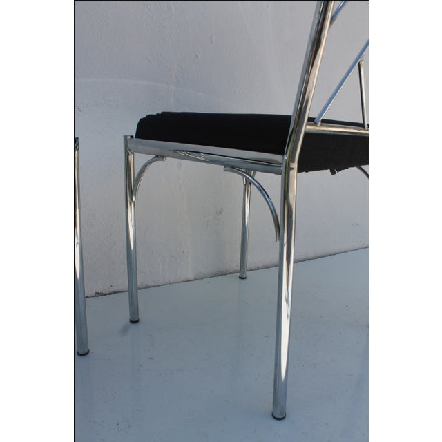 Vintage Chrome Dining Chairs - Pair - Image 5 of 7