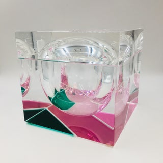 Italian Neon Pink and Green Lucite Ice Bucket by Alessandro Albrizzi Preview
