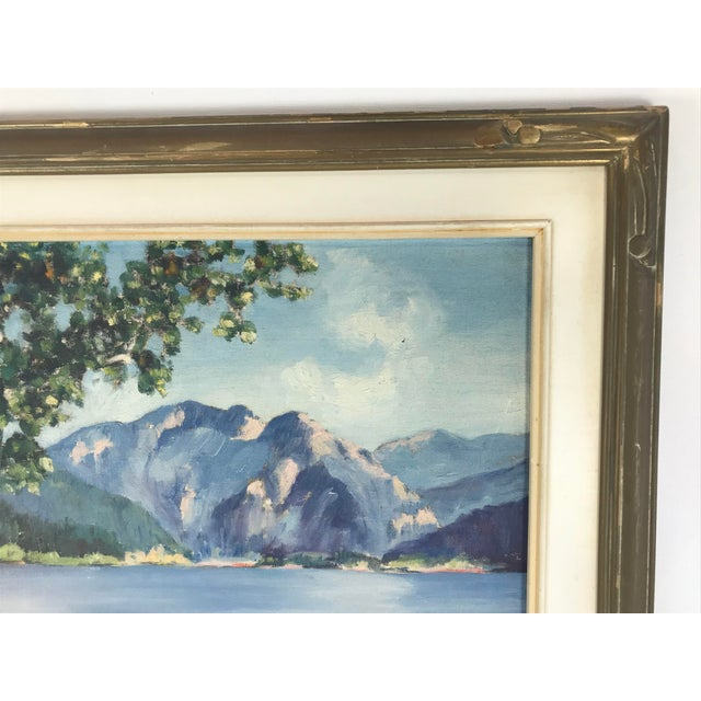 1940's Original Oil on Canvas Mountain Landscape Signed For Sale In Los Angeles - Image 6 of 13