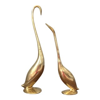 Vintage Brass Birds - A Pair