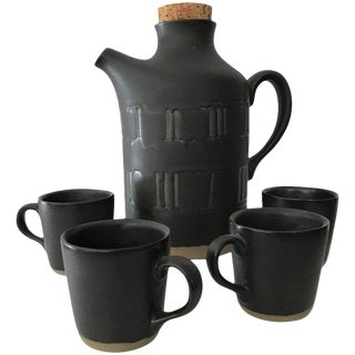 Jane & Gordon Martz for Marshall Studios Ceramic Serving Set; Pitcher and Cups For Sale