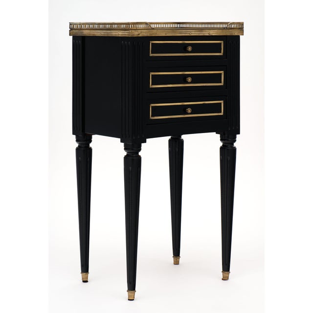 Black Antique Louis XVI Style Side Tables - a Pair For Sale - Image 8 of 10