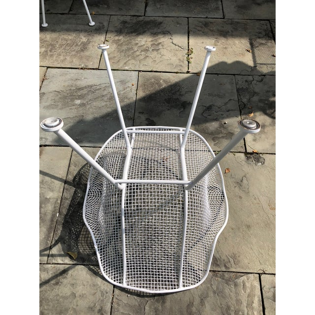 """1950s Woodard """"Sculptura"""" White Patio Chairs - a Pair For Sale - Image 10 of 14"""