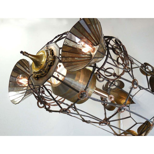 1920s Steampunk Rocket Chandelier For Sale - Image 5 of 10