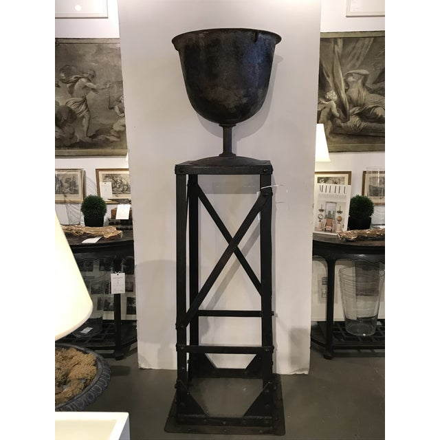 Iron Urn and Stand Circa 1900 - 2 Pieces For Sale - Image 11 of 11