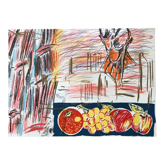 1990s Abstract Cityscape Lithograph by Carlos Pazos - Signed For Sale