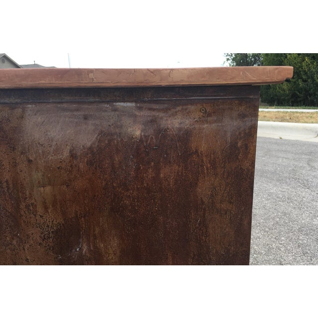 Burnt Umber 1980s Industrial Reclaimed Flat File Coffee Table For Sale - Image 8 of 13
