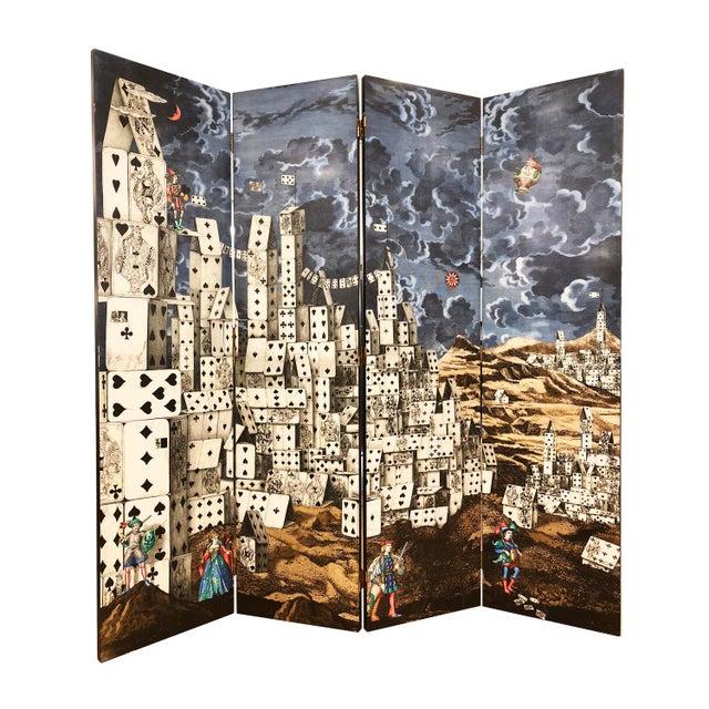 """Citta' DI Carte"" Folding Screen by Piero Fornasetti For Sale In New York - Image 6 of 6"