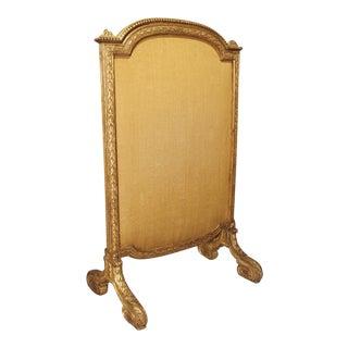 Period French Louis XVI Giltwood Firescreen, Circa 1780 For Sale