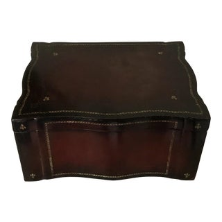 Maitland Smith Tooled Leather Box For Sale