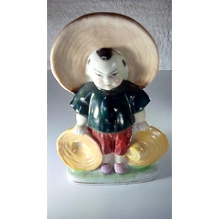 20th Century Japanese Boy Figurine Toothpick Holder Preview