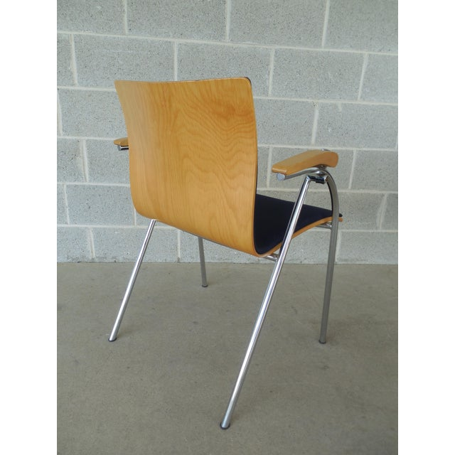 Thonet Thonet Chrome & Bent Wood Chairs - Set of 6 For Sale - Image 4 of 9
