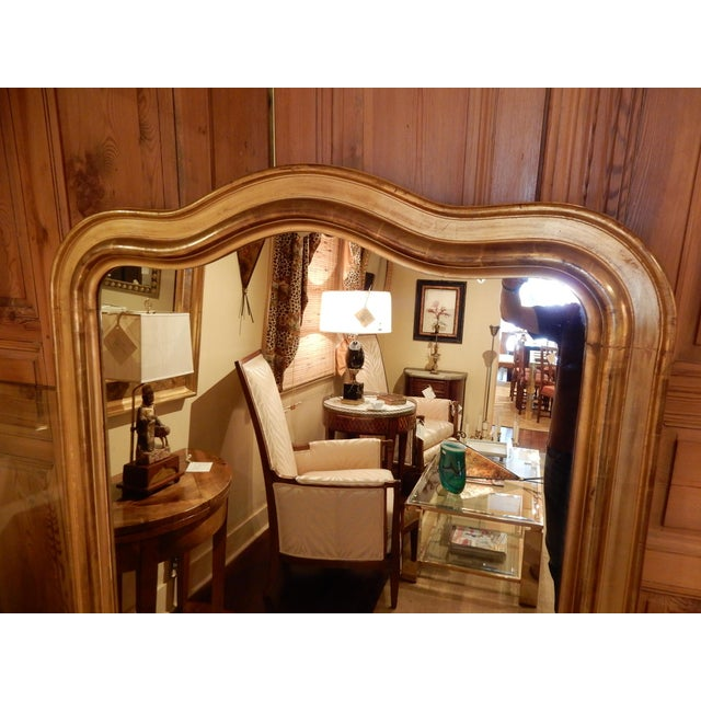 Traditional Louis Philippe Gold Gilt Mirror For Sale - Image 3 of 10