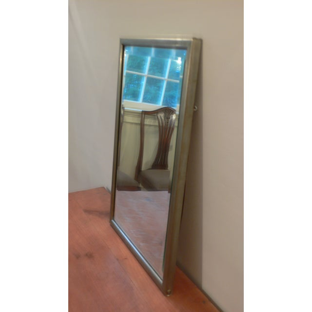 Early 20th Century Early 20th Century Industrial Bathroom Mirror For Sale - Image 5 of 6