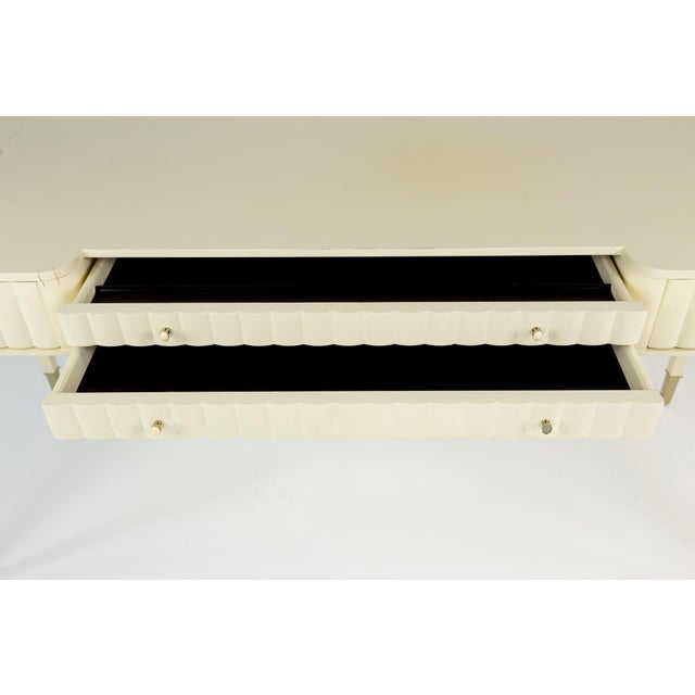 Barbara Barry for Baker Contemporary White Lacquer Desk For Sale - Image 10 of 13