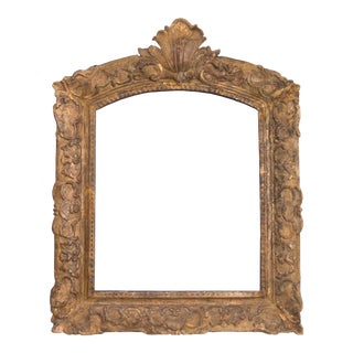 Antique 19th-Century French Giltwood Carved Mirror For Sale