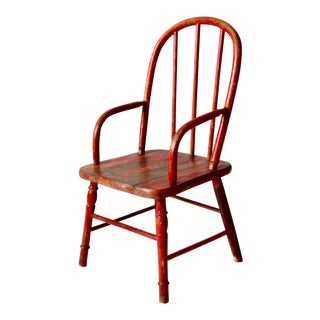Antique Children's Arm Chair For Sale