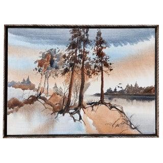 Vintage Mid-Century Arlen Olson Original Oil on Canvas Painting For Sale