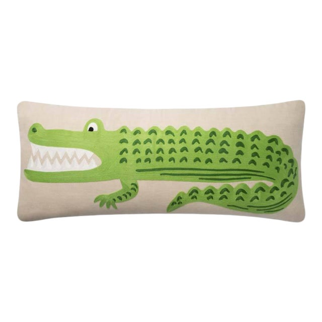 Alligator Lumbar Pillow from Kenneth Ludwig Chicago For Sale