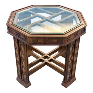 1980's Chinoiserie Octagonal Side Table For Sale