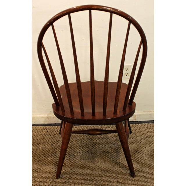 Contemporary Duckloe Bros Cherry Hoop-Back Windsor Side Dining Chair For Sale - Image 5 of 11