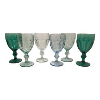 1980s Vintage Libbey Glass Co. Duratuff Goblets - Set of 6 For Sale