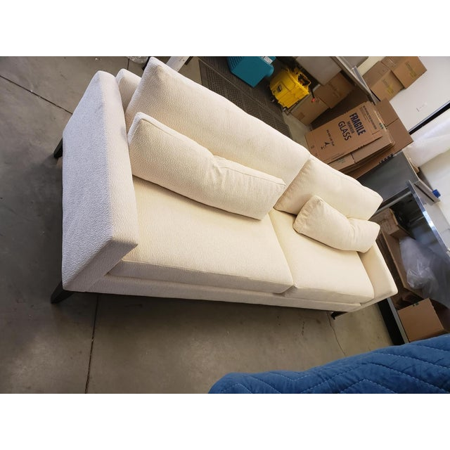 2000 - 2009 Modern Kravet Cream Sofa For Sale - Image 5 of 8