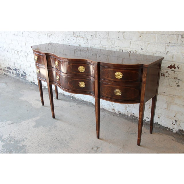 Drexel Heritage Drexel Heritage Heirlooms Collection Inlaid Mahogany Sideboard For Sale - Image 4 of 11