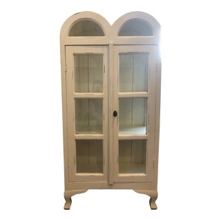Antique Bramble Company White Cabinet For Sale