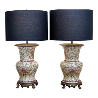 Asian Style Lamps - A Pair For Sale