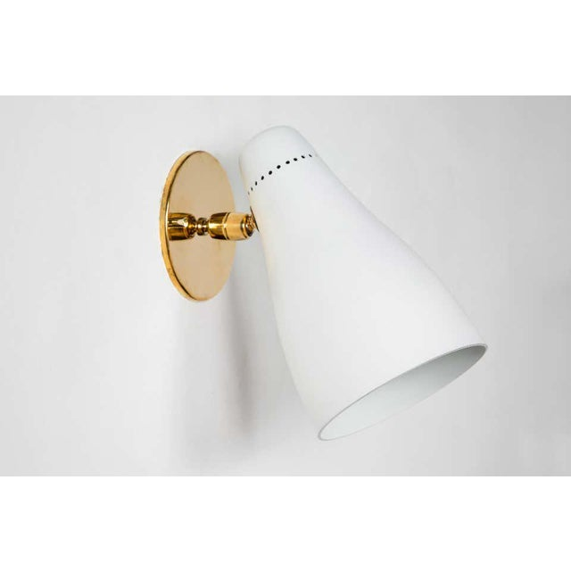 1950s Gino Sarfatti Perforated Cone Sconces for Arteluce - a Pair For Sale - Image 9 of 13