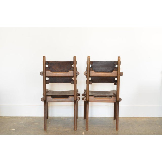 Set of Six Ecuadorian Dining Chairs by Angel Pazmino, 1960's For Sale - Image 4 of 5